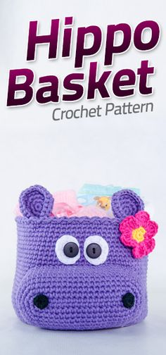 Hippo Hat Free Crochet Pattern from One and Two Company Crochet Purses, Crochet Bags, Diy Crochet, Crochet Crafts, Crochet Dolls Free Patterns, Applique Patterns, Crochet Hippo, Crochet Baskets, C2c