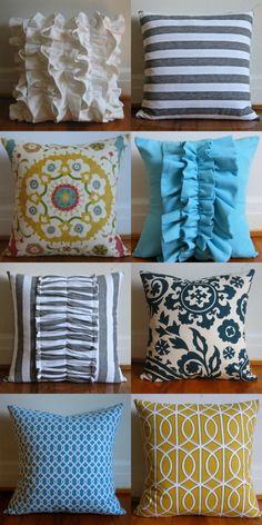 DIY throw pillows @Naomi Thompson you are the pillow making queen!