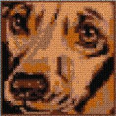 Latch Hook Rug Pattern Chart: DOG FACE - EMAIL2u