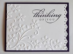 THINKING OF YOU set of 5 handmade note cards ~uses Stampin Up