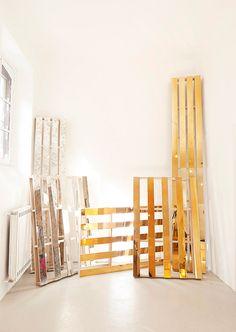 garth™ _ design studio of garth roberts Pallet Mirror, Antique Gold Mirror, Pallet Boxes, Dynamic Design, Pallet Creations, Design Strategy, Store Design, Innovation Design, Your Design