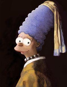 Les Simpson version Dali, Van Gogh, Rembrandt