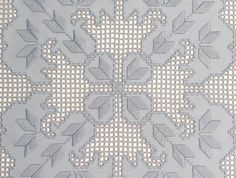 Thread-work. Hardanger embroidered tablecloth.
