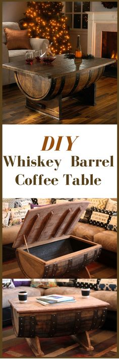 How To Build A Whiskey Barrel Coffee Table http://vid.staged.com/67Ws …