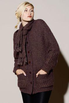 Vintage 90s Chunky Knit Sweater http://thriftedandmodern.com/vintage-90s-plum-knit-cardigan