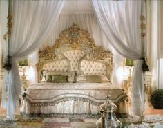 Royal Bed Room with Top Crown  Valery Bedroom By Asnaghi Interiors