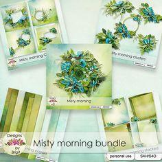 Misty Morning bundle by Designs by Brigit - $5.00 : Digital Scrapbooking Studio
