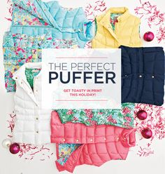 perfect puffers, the stuff of fluff #LillyHoliday