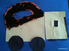 Dump trucks are the perfect way to talk letters with a busy construction fan. momstown's D is for Dump Truck craft includes a messy sensory step too!