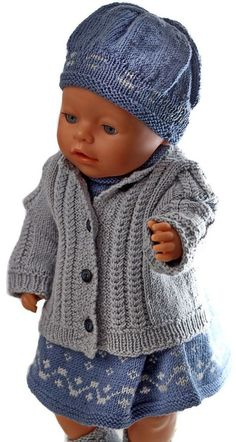 Welcome to Målfrid Gausel& internet shop for pup .-Herzlich willkommen in Målfrid Gausels Internet-Shop für Puppen strickmuster u… Welcome to Målfrid Gausel& internet shop for knitting dolls and knitting doll clothes - Knitting Dolls Clothes, Knitted Dolls, Doll Clothes Patterns, Clothing Patterns, Baby Born Kleidung, Baby Born Clothes, Baby Overall, Baby Tumblr, Baby Barn