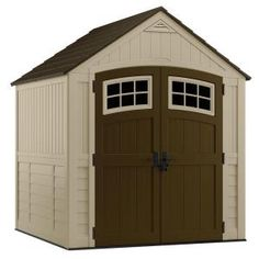 Suncast Sutton 7 ft. 3 in. x 7 ft. 4.5 in. Resin Storage Shed-BMS7791 at The Home Depot