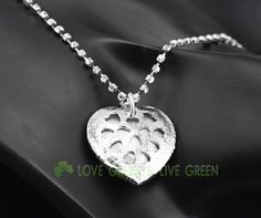 Free Shipping promotion ORIGIN Design 18k gp top quality Austrian Crystal Heart Of Ocean Heart Pendant Necklace fashion jewelry