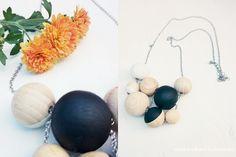 Wunderbare Lebensart: DIY Halskette mit Holzkugeln