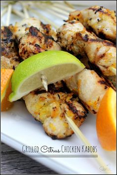 Grilled Citrus Chicken Kabobs | a grill season must have - A Dash of Sanity