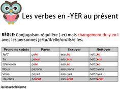 Les verbes terminés par -YER