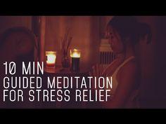 10 Min Guided Meditation for Stress Relief Meditation For Stress, Meditation For Beginners, Meditation Techniques, Daily Meditation, Meditation Practices, Meditation Music, Mindfulness Meditation, Meditation Corner, Meditation Rooms