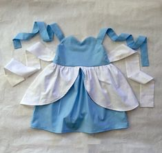 Cinderella inspired dress Princess Party Dress Up --  boutique girls toddler costume children clothing. $38.50, via Etsy.