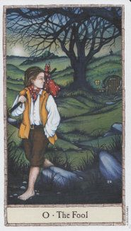 Hobbit Tarot The Hobbit Tarot draws on the world of elves, trolls, dragons and wizards as created by Tolkien in his novel, The Hobbit. The illustrations for the 78 cards have been created by fantasy artist, Peter Pracownik, who also created the Dragon Tarot.