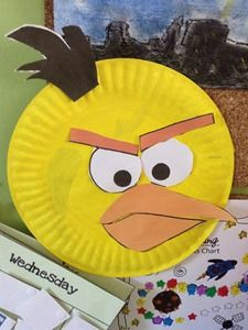 Angry Bird craft from a paper plate.
