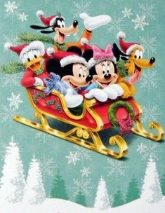 Christmas - Disney v- Mickey & Minnie Mouse & Friends