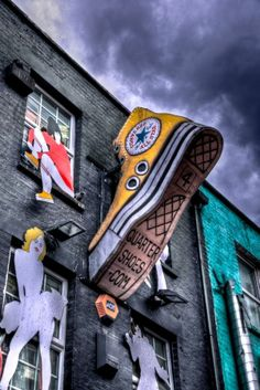 Converse created this piece of street art to promote their All Stars graphics design