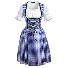 DJT Women's 3 Pcs #Dirndl Serving Wench #Bavarian Beer Girl #Oktoberfest Adult Costume  Price:	$34.99 & FREE Returns on some sizes and colors - Mach dich fesch für #Oktoberfest
