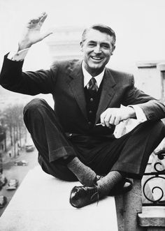 "Guy Trebay, ""The Deities of Men's Style,"" The New York Times (28 September 2015). Whenever men's wear designers find themselves in need of inspiration, they turn to the pantheon: Cary Grant, Steve McQueen and Paul Newman. Photo: Cary Grant (shown in Paris in 1956) helped define the term 'fashion icon'."