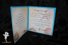 wedding maritime invitation sea shells #weddinginvitation #weddingpapeterie  #hochzeitseinladung #feenstaub