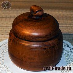Банка с крышкой Ярец из глины для сыпучих продуктов, меда, варенья, душистых трав  - гончарная посуда  купить в интернет магазине Рукоделец