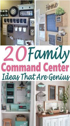 If you need help organizing your home and family, then a family command center is the perfect place to start. It keeps everyone organized and helps to declutter your home. This is one of the best organization hacks that I've found that really helps! Command Center Kitchen, Family Command Center, Kitchen Message Center, Organization Station, Home Office Organization, Family Organization Wall, Bathroom Organization, Bathroom Ideas, Design Bathroom