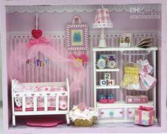 dollhouse miniatures | Wholesale - DIY Wooden Dollhouse Miniatures DIY Kits BEAUTY BABY NICE ...