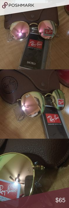 New RB round 3447 49mm Rose/Gold with box! RB Round Rose/Gold with case new. Ray-Ban Accessories Glasses