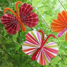 Butterflies - in past made w kids & made mobiles- could adjust sizes for dragonflies.....