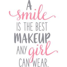 Silhouette Design Store - View Design #171763: a smile is the best makeup