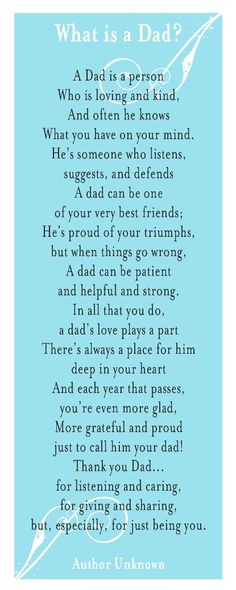 My dad passed away November 21, 2012. I miss him daily, but I know I'll see him again. This just reminded me of him. Love you daddy!