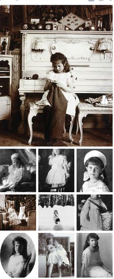 Various photographs of the real Anastasia, youngest daughter in the Romanov family