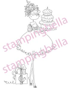 Stamping Bella Unmounted Rubber Stamp - Uptown Girl Ava Loves To Celebrate