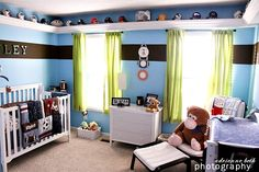 baby boy room idea. I would have to change the curtain color though