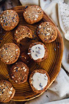 Lavender Cashew Shortbread Cookies (Grain Free, Vegan)