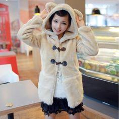 Wool Bear Ear Cute Japan Style Warm Coat $64.62 free international shipping
