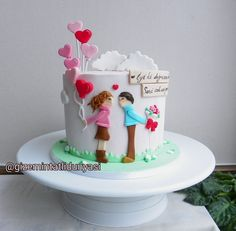 (gizemintatlidunyasi): Aşk ❤️ #lovecake #valentinecake #sevgilipastası Valentine Cake, Love Cake, Cupcake Cookies, Cake Pops, Cake Pop, Cakepops, Valentines Day Cakes