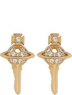 VIVIENNE WESTWOOD JEWELLERY Darianne key orb stud earrings