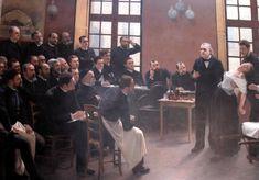 """by Pierre-André Brouillet,""""Un Leçon Clinique à la Salpêtrière"""" (1887)"""