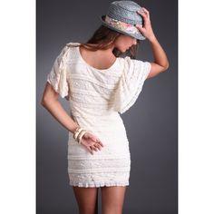 Layered Lace Dress #sophieandtrey #lace #dress #shop #online #fashion #style #cyber #ruffle