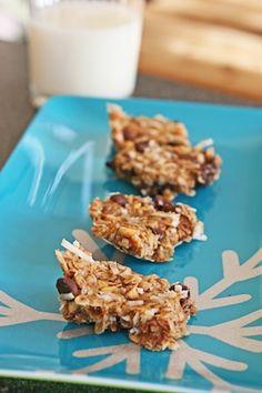 No bake chocolate-peanut flaxseed butter bars!!