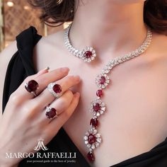 No better way to celebrate the first day of October than wearing @moussaieffjewellers ruby jewels ❤️ Credit: www.margoraffaelli.com