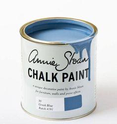 Chalk Paint ™ van Annie Sloan Greek Blue   Shabby Treats