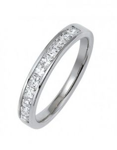 Alliance de mariage en or blanc et diamants - L'alliancier