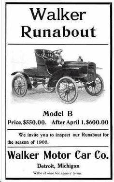 1906 Walker Automobile Advertisement
