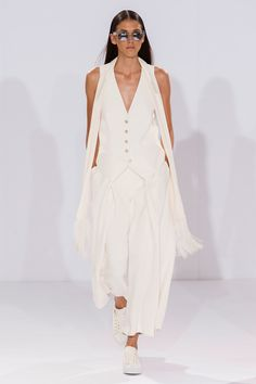Alice Temperley Keeps It Casual For Spring 2015: Sneakers at Temperley? We never would have believed it either, had the way not been paved by Chanel and company in previous seasons.